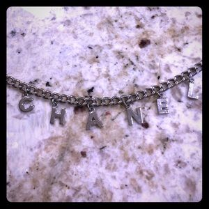 Authentic Chanel Silver Chain Belt
