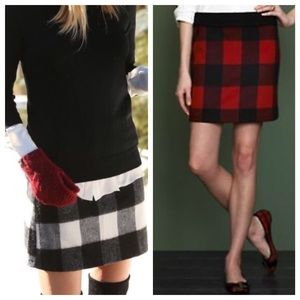 J.Crew Buffalo Check Wool Skirt!