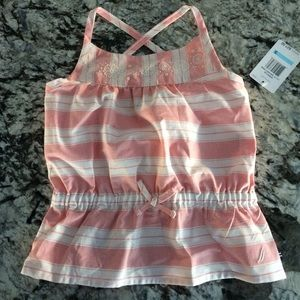 NWT Nautica girls cross-back top