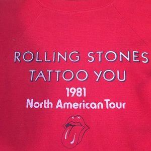 VINTAGE 1981 Rolling Stones Tattoo You sweatshirt