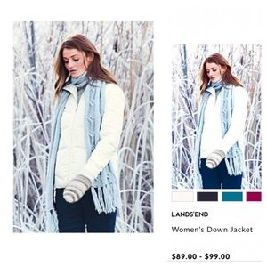🎀SOLD LOCALLY🎀Land's End winter jacket