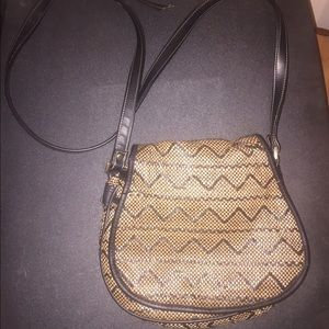 Black and Tan cross body purse