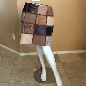 Bagatelle Leather Skirt!