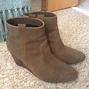 DV by Dolce Vita Shoes - Suede Dolce Vita Wedge Ankle Boots