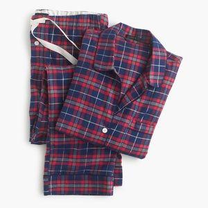 J. Crew Other - ❌SOLD❌ JCrew Sparkle Plaid Flannel Pajama PJ Set