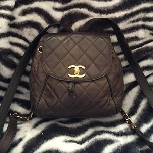 💯% Authentic Vintage Chanel Lambskin Backpack