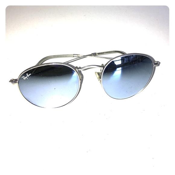 366d7895e7 RAY-BAN sky blue round mirrored sunglasses. M 58580ca0c6c795a9a6035b7d
