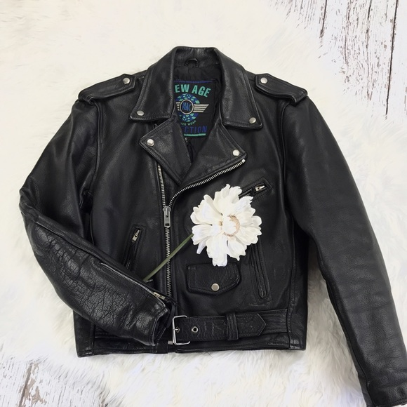New Age Collection - 💕SALE💕 New Age Black Leather Motorcycle ...