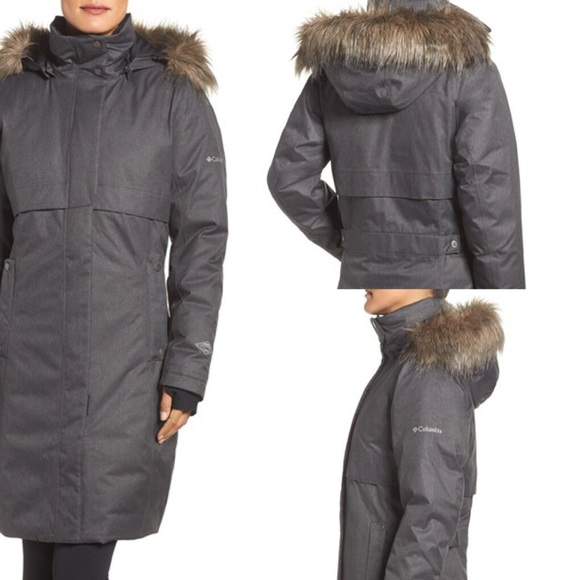 5ee5388c1 Columbia Apres Arson Down Jacket w: Faux Fur Trim