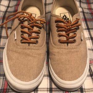 f5847ef59ed3bb Vans Shoes - Cream True White Washed Authentic Vans