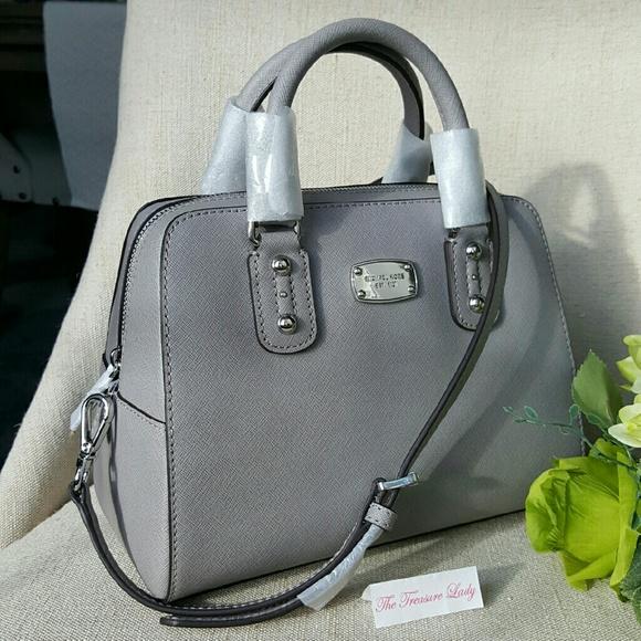 8b651241d9eb Michael Kors Bags | Saffiano Small Satchel Purse Mk Grey | Poshmark