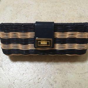 J.Crew Factory Handbags - J.Crew straw clutch