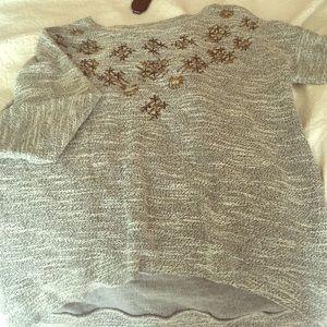Lucky Jade Sweaters - Lucky Lotus Grey Sweater