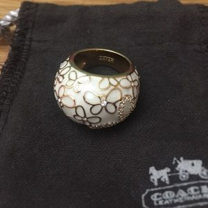 Coach Embellished Ring