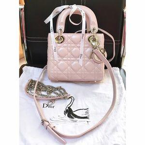 b3af3d21e3 Christian Dior Bags - MINI LADY DIOR CLASSIC LAMBSKIN LIGHT PINK/BEIGE