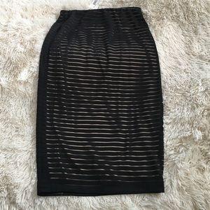 ANGL Dresses & Skirts - Sheer Black and Gold Midi Skirt