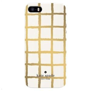 ✨ SALE Kate Spade Gold Check iPhone SE 5/5S Case