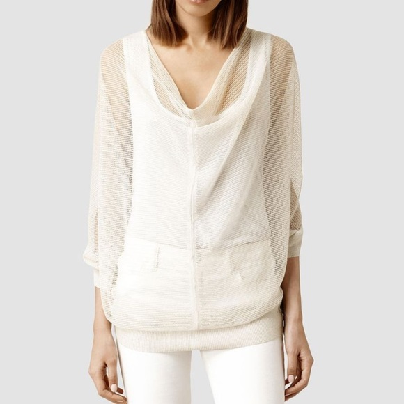 75% off All Saints Sweaters - All Saints Bishi Cowl Neck Sweater ...