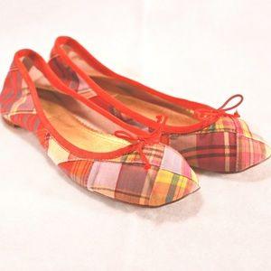 J. Crew Shoes - J. Crew Cloth Plaid Ballet Flats- Ladies Size 7.5