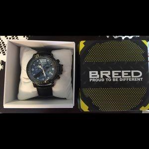 Breed Other - Breed Von Glarus Black Dial Chronograph Men Watch