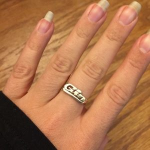 Jewelry - Sterling silver GIN ring. NWT.