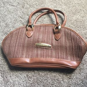 Capezio Handbags - Brown woven/leather purse