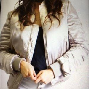 T&C Jackets & Blazers - ❣️Champagne Satin Bomber Jacket❣️