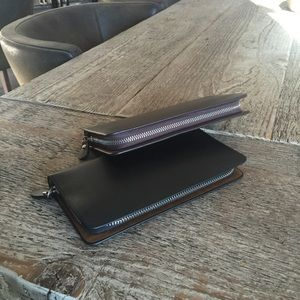 Men's Faux Leather Travel Clutch Long Wallet