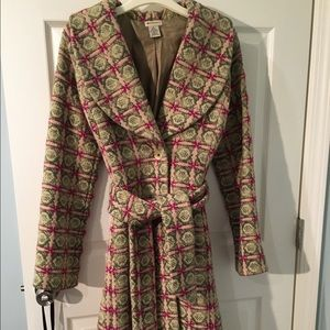 Anthropologie wool belted coat