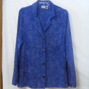 Chicos size 1 ( Medium) shirt top jacket blazer