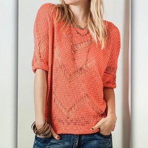 Tops - 🐣Coral orange🐣 Leila 3/4 sleeve blouse