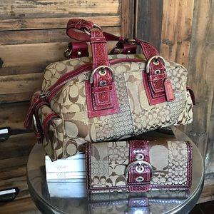 Coach Handbag and Wallet Combo - Clean, EUC