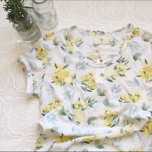 NWT Anthropologie Floral Tee