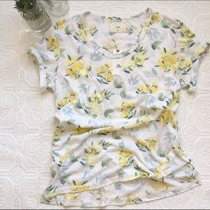 ‼️One left! NWT Anthropologie Floral Tee