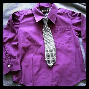Other - Boys dress shirt and clip on tie
