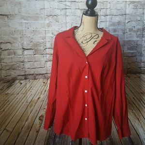 Talbots Tops - Red wrinkle resistant button down
