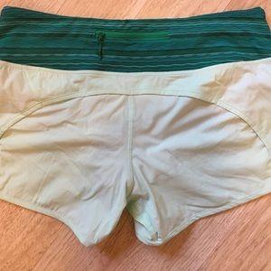 lululemon athletica Pants - NWT Lululemon Run Times Shorts Sea mist Stripes