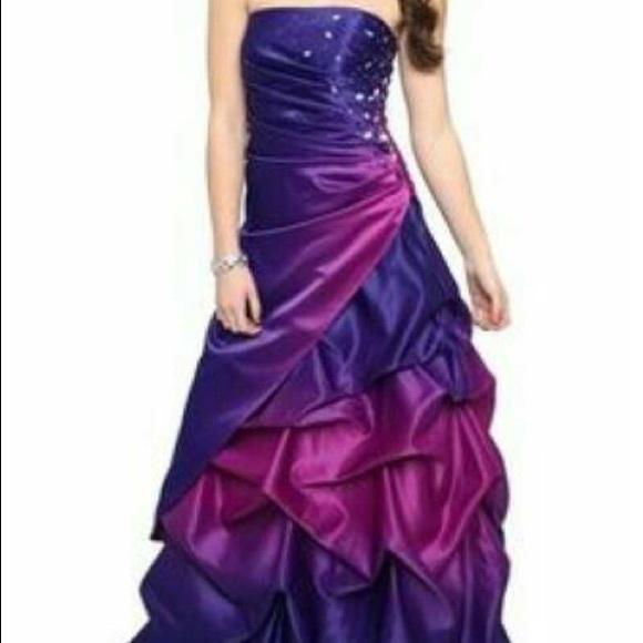 Deb Dresses Purple Ombr Prom Dress Poshmark
