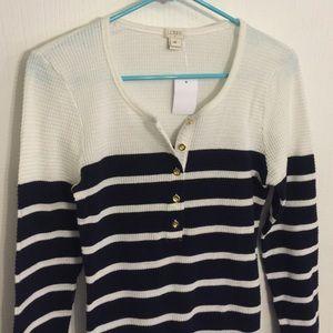 J. Crew Factory Sweaters - J. Crew Striped Sweater