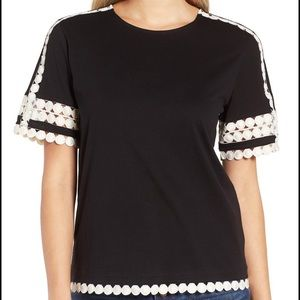 JCrew lace embroidered top, new with tags