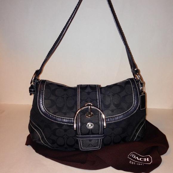 1a96b665fe Coach Handbags - Coach Black Soho Hobo Bag   Dustcover 10297 💼