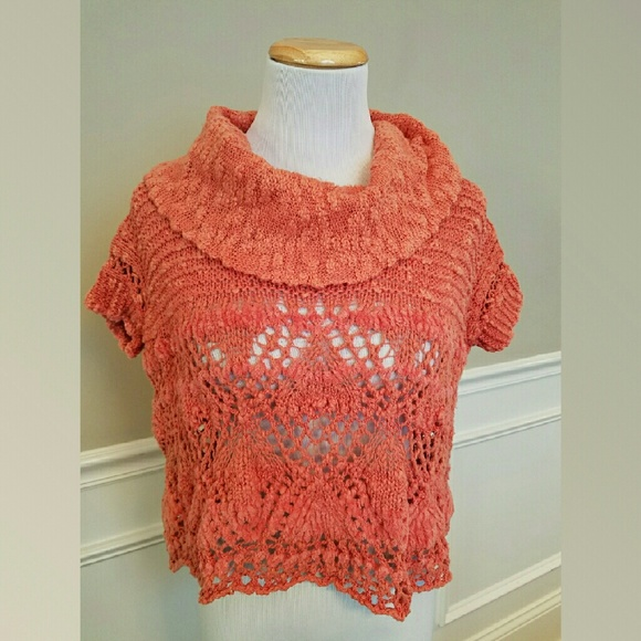 Free Crochet Pattern Cropped Sweater : 88% off Free People Sweaters - Free People Coral Crochet ...