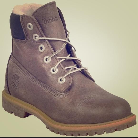 8465d56396635 Women's Fleece Lined Grey Timberland Boots!🎄🍁🌿.  M_58586310bf6df5bb99019fbd
