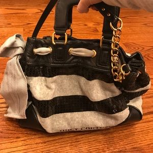 Juicy couture terry and sequin bag