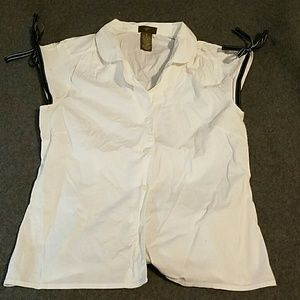 VM Tops - Sz 8 VM white blouse with shoulder ties