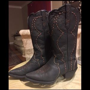 Justin Boots Shoes - Justin Black Milled Crunch Cow Boots