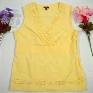 Talbots Sleeveless Yellow Blouse