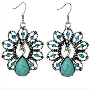 *Turquoise Peacock Earrings!*
