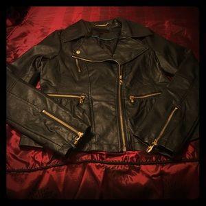 Steve Madden Jackets & Blazers - Worn Once! Steve Madden Peplum Leather Jacket