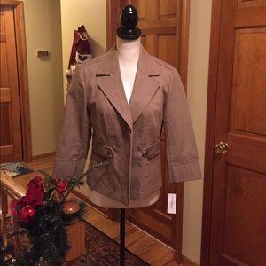 Dress Barn Jackets & Blazers - NWT - DRESSBARN khaki lightweight jacket
